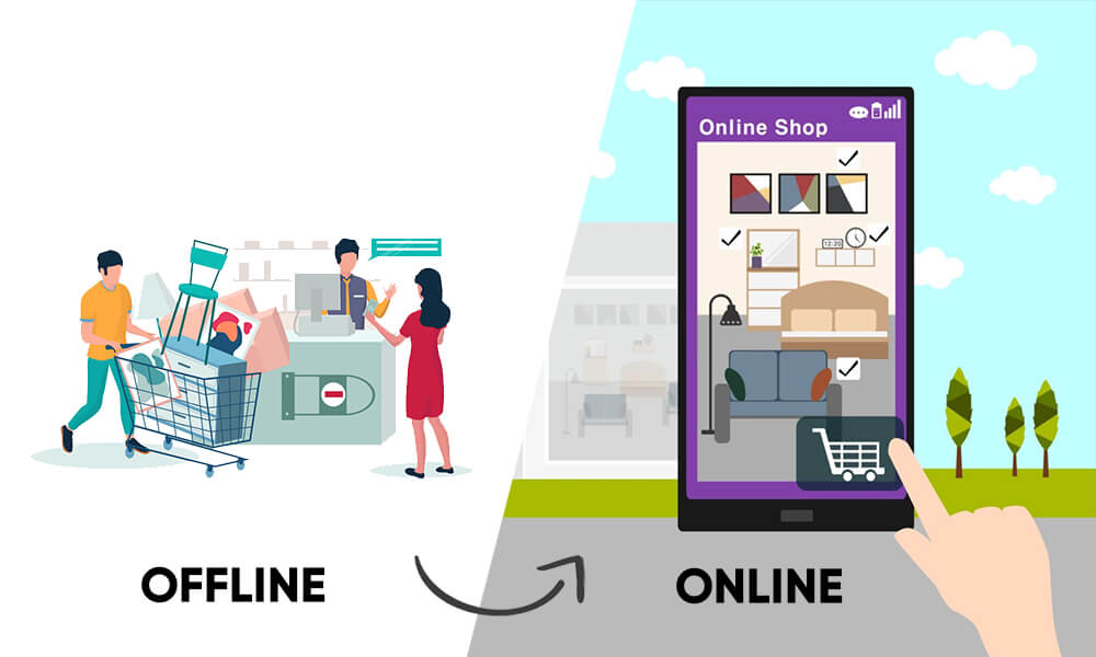 Offline Experience Vs Online Experience While Purchasing Furniture